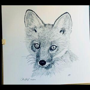 Pen & Ink Fox print by Martin May
